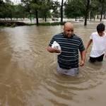 Harvey again makes landfall, this time as a tropical storm, near Cameron, La.