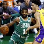 Lonzo Ball and the Lakers get a dose of rivalry with Celtics, who win 10th in a row