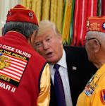 While honoring Native American veterans, Trump lobs his favorite Native American insult