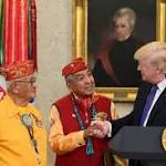 Andrew Jackson was called 'Indian killer.' Trump honored Navajos in front of his portrait.