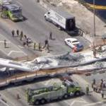 4 people killed when new pedestrian bridge collapses near Miami, crushing eight cars underneath