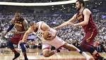 NBA playoffs live: Raptors completely capitulate in a 128-110 loss to the Cavaliers