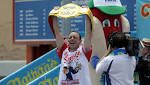 Joey Chestnut devours record 74 hot dogs for 11th win at Nathan's Famous contest